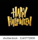 halloween gold glitter... | Shutterstock .eps vector #1165772830