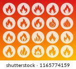 fire different shapes icons set.... | Shutterstock .eps vector #1165774159