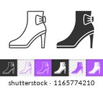 women shoes black linear and... | Shutterstock .eps vector #1165774210