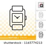 wristwatch thin line icon....   Shutterstock .eps vector #1165774213