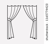 curtains icon line element.... | Shutterstock .eps vector #1165774423