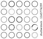 collection of round decorative... | Shutterstock .eps vector #1165776259