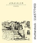 jerusulaem old town. aged...   Shutterstock .eps vector #1165777453