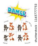 cute animals dancing concept... | Shutterstock .eps vector #1165777753