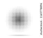 halftone dots radial | Shutterstock .eps vector #1165778896