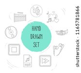 set of melody icons line style... | Shutterstock . vector #1165781866