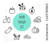 set of fruit icons line style... | Shutterstock .eps vector #1165784863