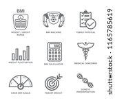 Bmi   Body Mass Index Icon Set...