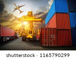 logistics and transportation of ... | Shutterstock . vector #1165790299