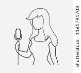 singer woman icon line element. ...   Shutterstock .eps vector #1165791703