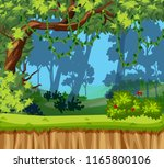 a beautiful jungle landscape... | Shutterstock .eps vector #1165800106