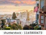 famous lombard street in san... | Shutterstock . vector #1165800673