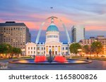 st. louis downtown city... | Shutterstock . vector #1165800826