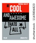 milan be cool and awesome t... | Shutterstock .eps vector #1165806823