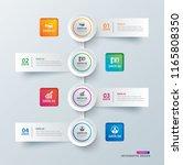 infographics tab in horizontal...   Shutterstock .eps vector #1165808350