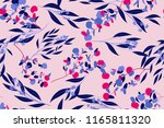 bright floral seamless pattern. ... | Shutterstock .eps vector #1165811320