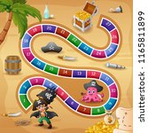 snakes and ladders game pirates ... | Shutterstock .eps vector #1165811899