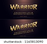 alphabet golden metallic and... | Shutterstock .eps vector #1165813090