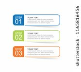 infographic template with...   Shutterstock .eps vector #1165816456