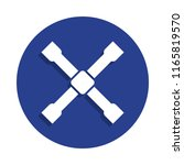 wheel wrench cross icon in...