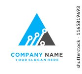 faster the future logo template ... | Shutterstock .eps vector #1165819693