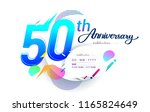50th years anniversary logo ... | Shutterstock .eps vector #1165824649