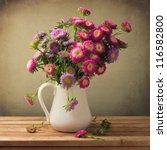 Beautiful Aster Flower Bouquet...