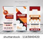 food   restaurant roll up... | Shutterstock .eps vector #1165840420