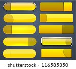 set of blank yellow buttons for ... | Shutterstock .eps vector #116585350