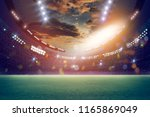 lights at night and stadium 3d... | Shutterstock . vector #1165869049