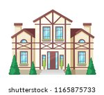 colorful country house  family... | Shutterstock .eps vector #1165875733