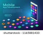 3d isometric web banner... | Shutterstock .eps vector #1165881433
