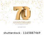 anniversary 70. gold 3d numbers.... | Shutterstock .eps vector #1165887469