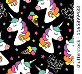 unicorn and ice cream drawings... | Shutterstock .eps vector #1165899433