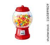 transparent round glass candy... | Shutterstock . vector #1165899829