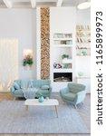 fashionable spacious apartment...   Shutterstock . vector #1165899973