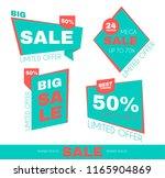 sale sticker set. special offer ... | Shutterstock .eps vector #1165904869