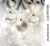shiny christmas background with ... | Shutterstock .eps vector #116590588