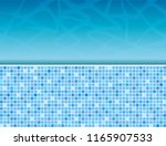 swimming pool and tile ideal... | Shutterstock . vector #1165907533