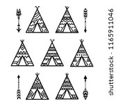 Teepee Tents And Arrows Tribal...