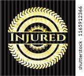 injured gold badge or emblem | Shutterstock .eps vector #1165912366