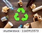 recycling. green recycle eco... | Shutterstock . vector #1165915573