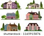 set of modern city cottage... | Shutterstock .eps vector #1165915876