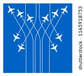 airplane flying formation in...   Shutterstock .eps vector #1165918753