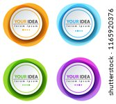 circle color banner   business... | Shutterstock .eps vector #1165920376