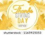 happy thanksgiving day. festive ... | Shutterstock .eps vector #1165925053