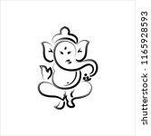 ganesha the lord of wisdom... | Shutterstock .eps vector #1165928593