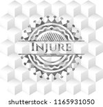 injure grey emblem with... | Shutterstock .eps vector #1165931050