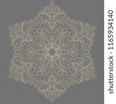 elegant golden ornament in... | Shutterstock . vector #1165934140