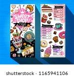sweet shop cafe menu template.... | Shutterstock .eps vector #1165941106